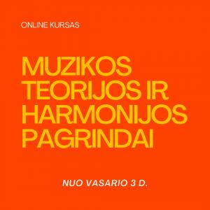 muzikos teorija, harmonija, muzikos teorijos pagrindai, harmonijos pagrindai, online kursas